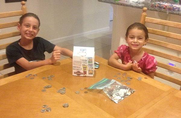 Kids Count Coins for Project Kyle