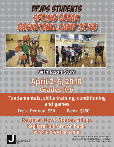 spring break basketball camp 2018 posnack