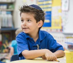 photo: boy in class